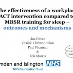 ACT/ MBSR workplace intervention for sleep - ACBS Berlin 2015 Conference