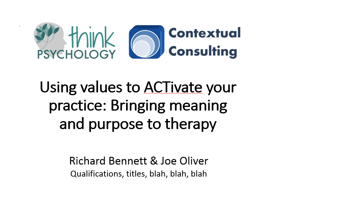 ACTivate Your Values Workshop Slides - BABCP Conference 2017
